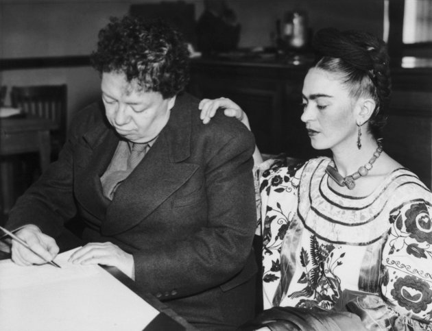 Diego Rivera and Frida Kahlo Getting a Marriage License